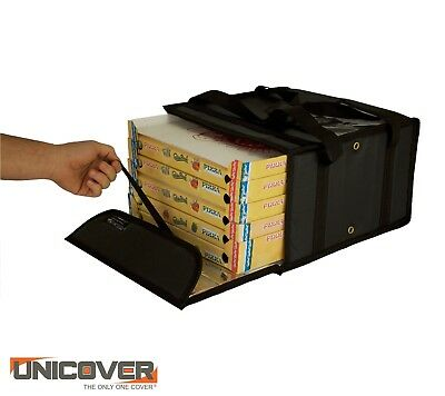 Black Thermal Pizza Delivery Bag for 5 pizza boxes