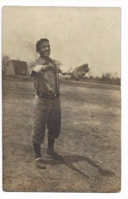 Real Photo Post Card Minnesota(?) Baseball Player Early 1900's RPPC Gophers