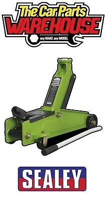 SEALEY Trolley Jack 3 tonne ton Long Chassis Heavy-Duty Hi-Vis  Hi Viz 1153CXHV