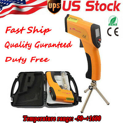 US Non-Contact LCD IR Infrared Laser Thermometer Temperature Meter -58~+2912℉