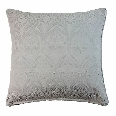 """Woven Damask Silver Grey Piped 17"""" - 43Cm Cushion Cover"""