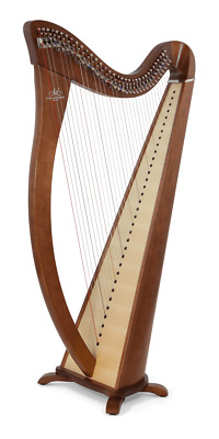 Camac Hermine Harp with 34 Strings In Walnut
