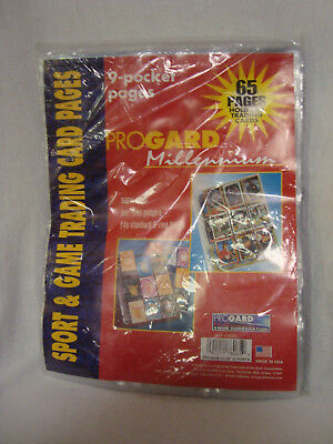 PROGARD #78065 Sport & Game Trading Card Total of 65 Pages - NEW