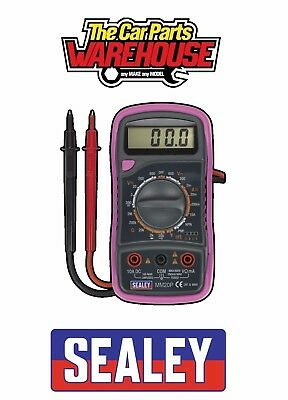 ⭐ Sealey MM20P Digital Multimeter 8 Function with Thermocouple - Pink ⭐