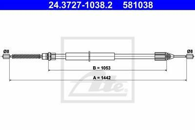 Rear Hand Brake Cable ATE 24.3727-1038.2 for Renault