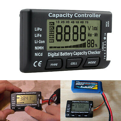 LCD Digital Battery Capacity Checker Controller Tester for LiPo LiFe Li-ion NiMH