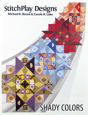 Needlepoint Pattern STITCHPLAY DESIGNS ShadyColors/Canvas/Thrd(PartCompltd)-RD7
