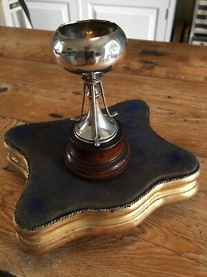 1924 English Sterling Silver Golf Trophy Uruguay Sth America Provenance Hickory