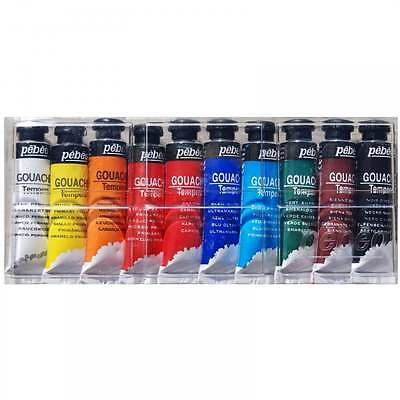 Pebeo Gouache Tempera Paint Set 10ml x 10
