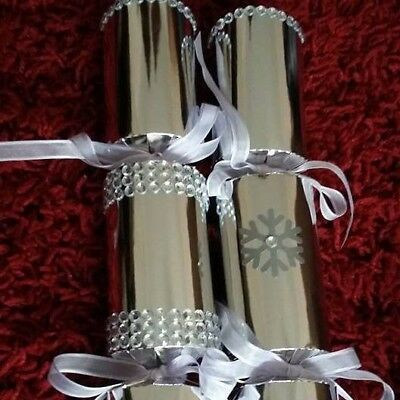 Hand Made Christmas Crackers X 6 Deluxe Designer Gifts Please Read Any Colour