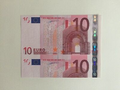 Eurobanknote Error  €10 Germany 2002