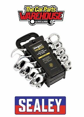 ⭐ Sealey S0561 Combination Spanner Set 10pc Stubby Metric 10 pieces ⭐