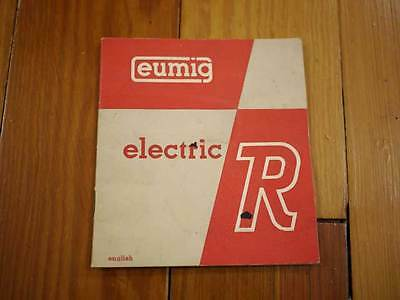 Vintage 40s 50s Eumig Electric R 8mm Film Camera Manual Booklet Guide Pamphlet