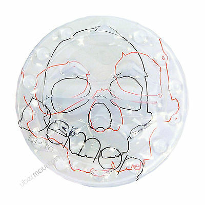 Demon Skull Snowboard Stomp Pad Board Traction Mat - Clear