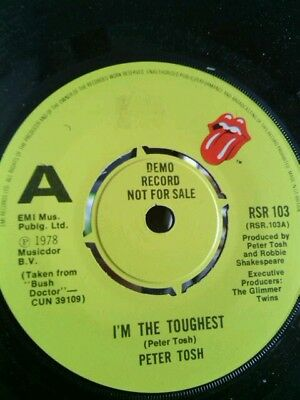 Peter Tosh - I'm The Toughest/version- Orig 1978 Single  Demo