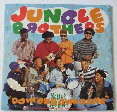 "JUNGLE BROTHERS UK 1990 12"" Single DOIN' OUR OWN DANG"