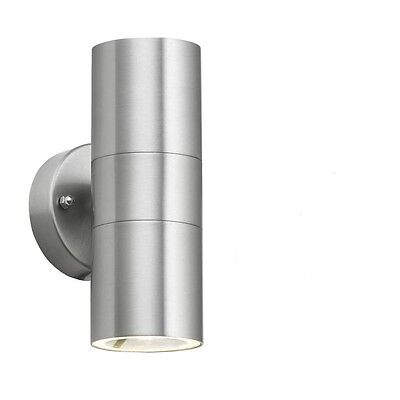 Up and Down Stainless Steel Twin Wall Light LED GU10 Compatible IP65 Outdoor UK