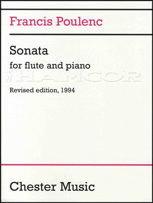 Francis Poulenc Sonata for Flute and Piano Sheet Music Book Classical
