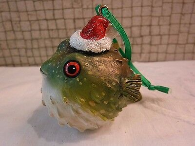 Danbury Mint PUFFER FISH   Baby Animals Christmas Ornament with Tag