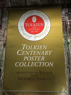 JRR Tolkien Centenary Poster Collection 6 Paintings Alan Lee Lord of The Rings