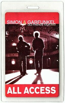 Simon & Garfunkel authentic 2003 Laminated Backstage Pass Old Friends Tour