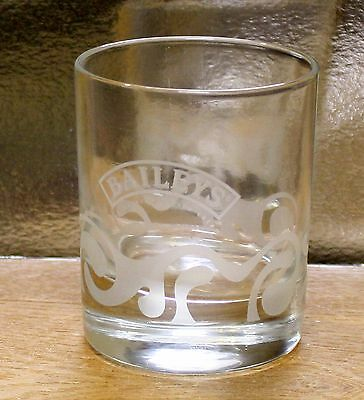 BAILEYS ~ Etched Glass ~ Tumbler ~ Excellent