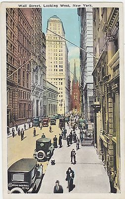Wall St., Looking West, New York. H.W. Haberman   (1923-1929) Postcard