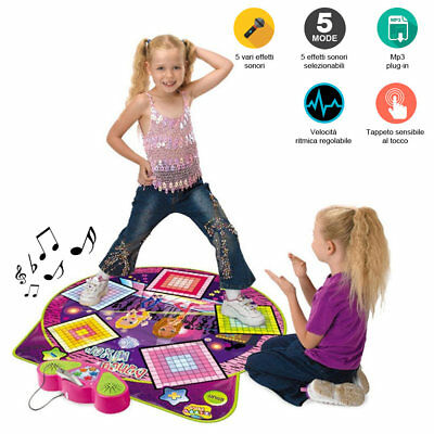 Tappeto Musicale Da Ballo Dance Mixer Playmat Con Ingresso Mp3 Ritmo Regolabile