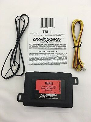 BYPASSKIT TBKIII Express Kit Universal Transponder Immobilizer Bypass W/Relayed