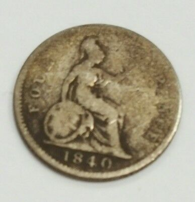 1840 Great Britain Silver Groat 4 Pence