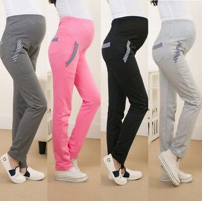 Winter Cotton High Waist Maternity Pregnancy Pants Casual Trousers Fleece-lined