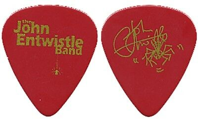 John Entwistle Band authentic Boris the Spider 1990's tour signature Guitar Pick