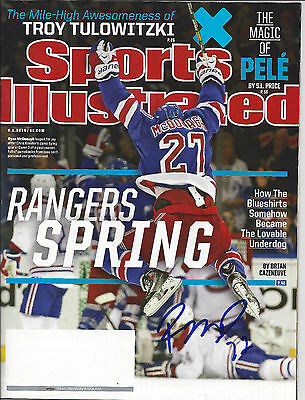 Ryan McDonagh autographed Sports Illustrated Free Shipping No Label 6/2/2014