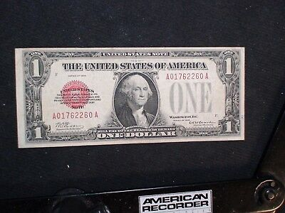 1928 One Dollar RED SEAL FUNNYBACK $1 U.S. NOTE Auction Starts At 99 Cents!