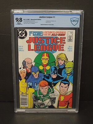 Dc Comics Justice League #1 1987 Newsstand Edition Cbcs 9.8 White Pages