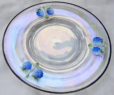 Antique / Art Nouveau Iridescent  Moser Glass Plate