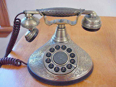 Paramount Push Button Vintage Phone 1935 Reproduction Series, Works Fine!