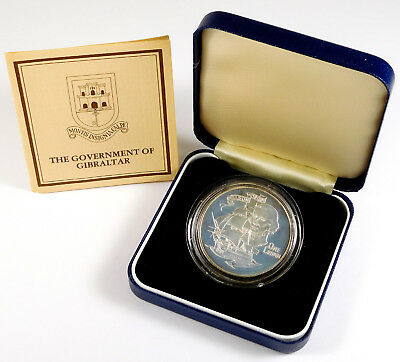 1980 Gibraltar 1 Crown Admiral Nelson Commemorative Proof - Government Packaging