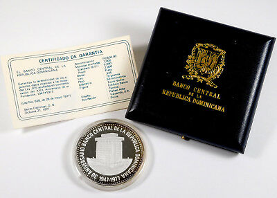 1977 Dominican Republic 30 Pesos Proof - Government Packaging - KM# 46