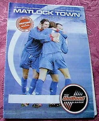 Matlock Town  V  Chesterfield 2002