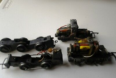 Triang Hornby Chassis Early motor Bogie, DMU 0 6 0 Sold As Spares Or Repairs