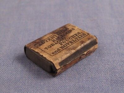 Miniature Antique London Gramwill Advert Balloons Tobacco Tin Box Dolls House