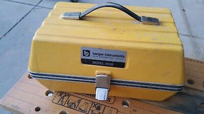 Berger Instruments Model 200B Level & Transit Surveying Scope with Case