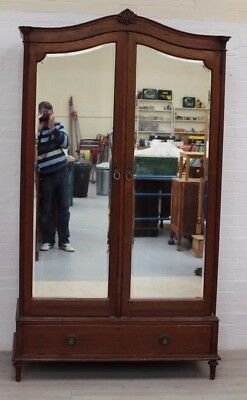 French Victorian Solid Oak Armoire, Beautiful Quality Example
