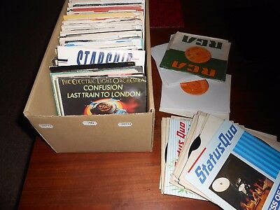 "Large Rock,7""vinyl Record Collection,joblot,sweet,quo,elo,ect"