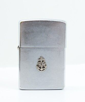Vintage 1950s Zippo Lighter US Navy USN Anchor Emblem Engraved & Personalized