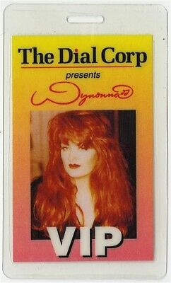 Wynonna Judd authentic 1994 concert tour VIP Laminated Backstage Pass