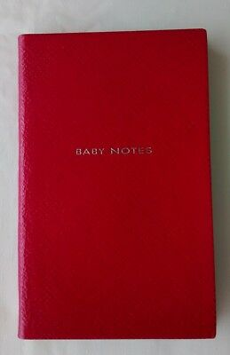 SMYTHSON PANAMA 'BABY NOTES' NOTEBOOK in Fuchsia Leather RRP £45.00 - BNWT