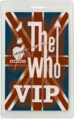 The Who authentic 2008 tour Laminate Backstage Pass Pete Townshend Roger Daltrey