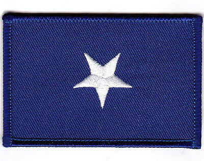 BONNIE BLUE FLAG PATCH TEXAS STAR SOUTHERN  Iron-On Patch White Border #05